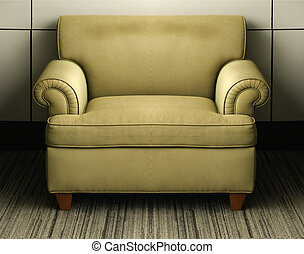 Un viejo sofá antiguo