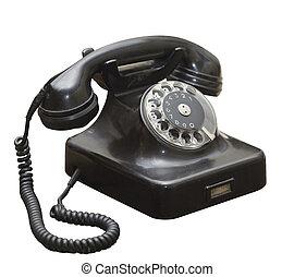 Un viejo teléfono viejo grunge