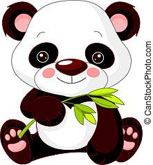 Un zoológico divertido. Panda