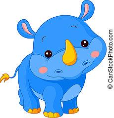 Un zoológico divertido. Rhino