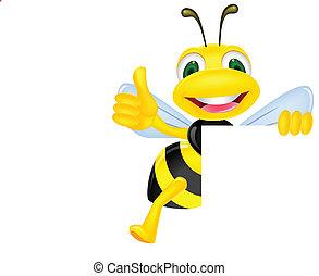 Una abeja en blanco