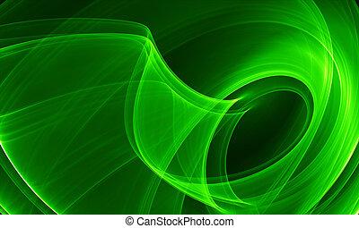Una abstracción verde