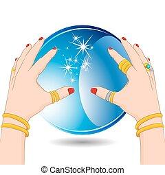 Una adivina con bola de cristal