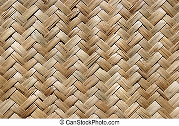 Una alfombra de paja