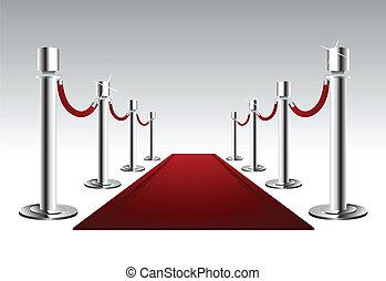 Una alfombra roja de lujo