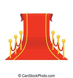 Una alfombra roja grande