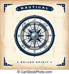 Una antigua brújula náutica