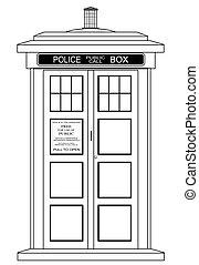 Una antigua cabina de policía británica