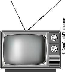 Una antigua ilustración de televisión realista