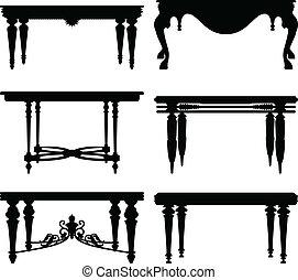 Una antigua mesa clásica