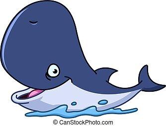 Una ballena feliz