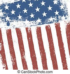 Una bandera americana de fondo grunge. Vector, EPS10
