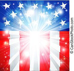 Una bandera americana patriótica