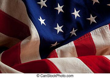 Una bandera americana
