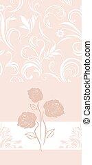 Una bandera rosa adornada con rosas