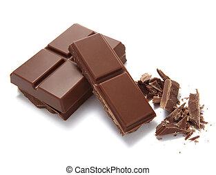Una barra de chocolate dulce de azúcar