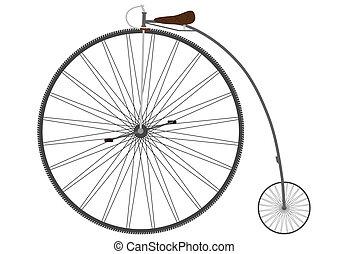 Una bicicleta de retro.