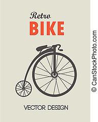 Una bicicleta de retro