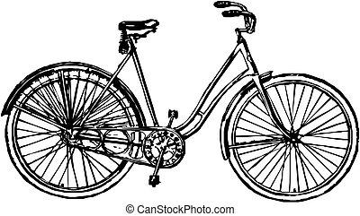 Una bicicleta de vector