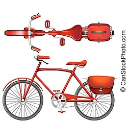 Una bicicleta roja