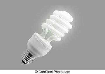 Una bombilla de ahorro de energía