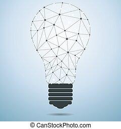 Una bombilla de idea de tecnología