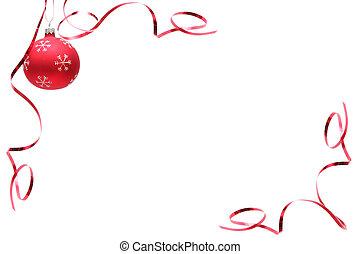 Una bombilla de Navidad roja