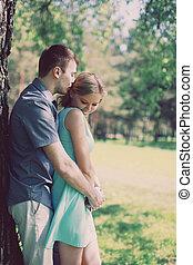 Una bonita pareja, amor, relaciones, concepto
