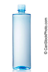 Una botella de agua de plástico