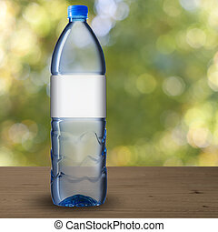 Una botella de agua