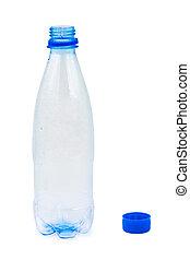 Una botella de agua vacía