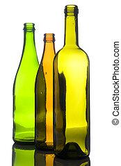 Una botella de color