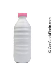 Una botella de leche de plástico