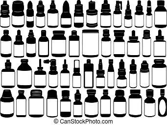 Una botella de medicina