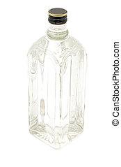 Una botella de vidrio