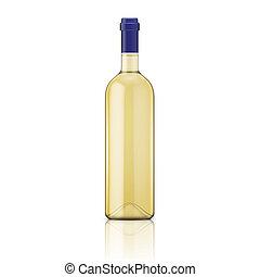 Una botella de vino blanco.
