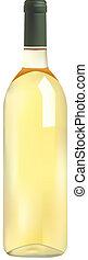 Una botella de vino blanco