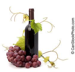 Una botella de vino tinto