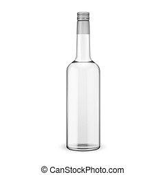 Una botella de vodka con tapa de tornillo.