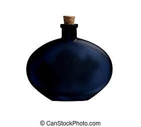 Una botella negra