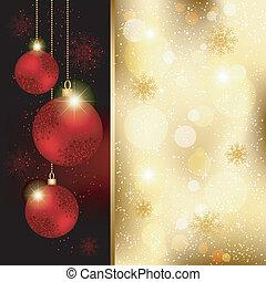Una brillante bola de cristal de Navidad