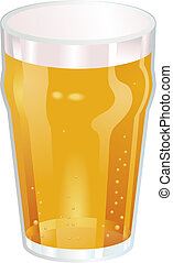 Una buena pinta de ilustración de vector de cerveza