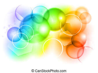 Una burbuja de arco iris