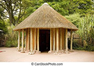 Una cabaña africana