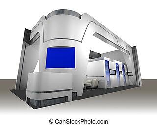 Una cabina de exhibición