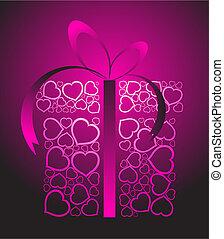 Una caja de amor estilizada