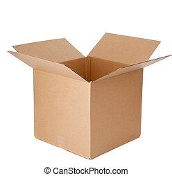 Una caja de cartón vacía