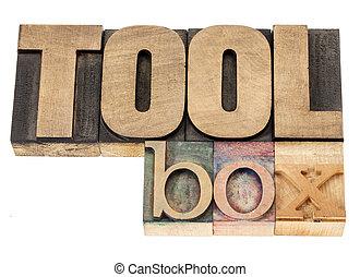 Una caja de herramientas de madera