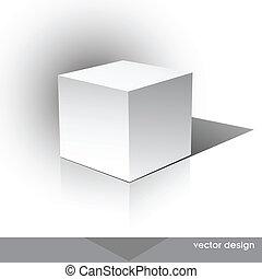 Una caja de paquetes con forma de tubo