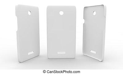 Una caja de plástico blanco para el teléfono